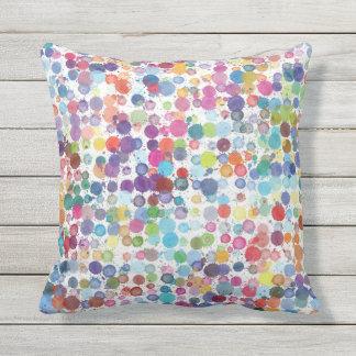 Outdoor indoor patio cushion Art paint rainbow
