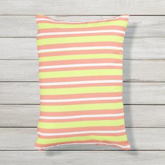 OUTDOOR-INDOOR_Pillows_Fun-Stripe-Peach-Lime Outdoor Pillow