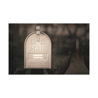 Outdoor mailbox canvas print