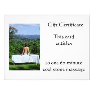Outdoor Massage Gift Certificate Invite