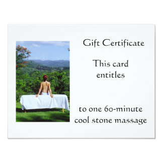 Outdoor Massage Gift Certificate 4.25x5.5 Paper Invitation Card