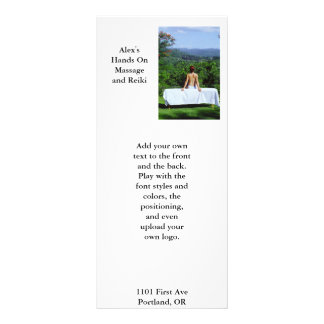Outdoor massage full color rack card