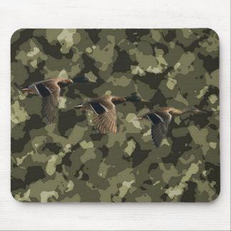 Outdoor military camo camouflage mallard duck mouse pad