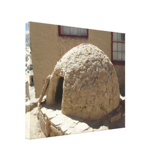 Outdoor Native American Adobe Brick Oven Canvas Print