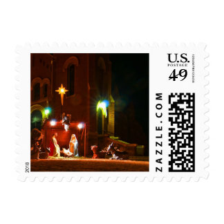 Outdoor nativity postage