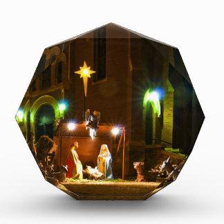 Outdoor nativity scene acrylic award