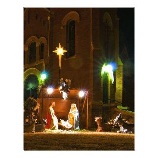Outdoor nativity scene letterhead