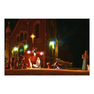Outdoor nativity scene photo print