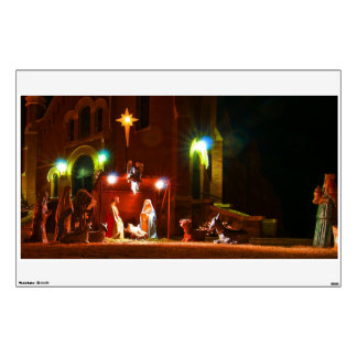 nativity scene wall decals amp wall stickers zazzle outdoor wall stickers sticks to bricks