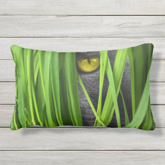 outdoor or indoor grass meadow cat kitty outdoor pillow