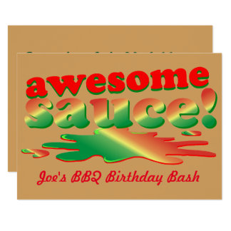 Outdoor Party Awesome Sauce Card