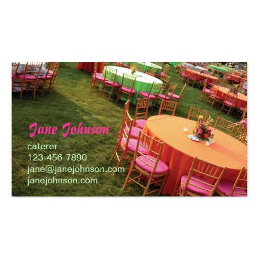 outdoor party tables business cards