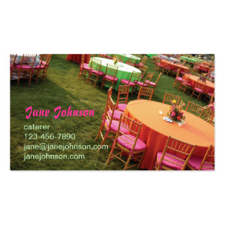 outdoor party tables Double-Sided standard business cards (Pack of 100)
