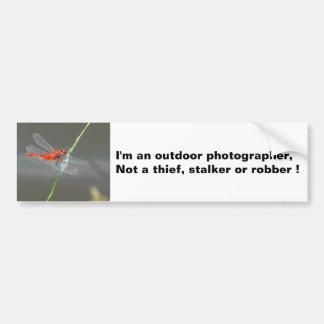 Outdoor photographer Dragonfly Bumper Sticker