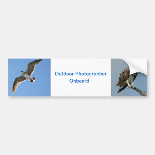 Outdoor photographer onboard Bumper Sticker