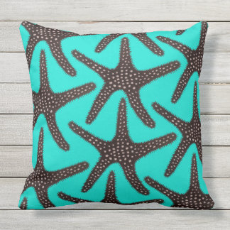 Outdoor Pillow 20x20 Sea Star in Caribbean