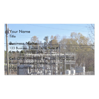 Outdoor power substation business card