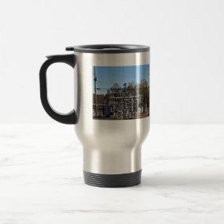 Outdoor power substation coffee mugs