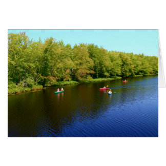 Outdoor Recreation at Pushaw Stream, Alton, Maine Card