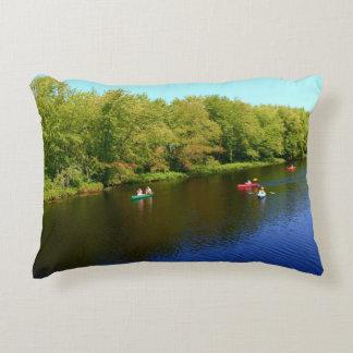 Outdoor Recreation at Pushaw Stream, Alton, Maine Decorative Pillow