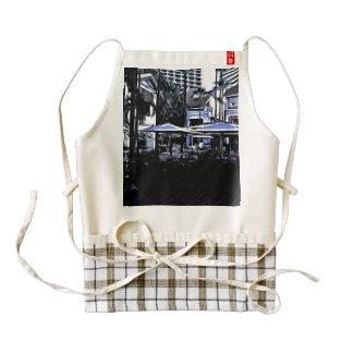 Outdoor restaurants zazzle HEART apron