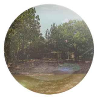 Outdoor Shoreline View From the Lake Melamine Plate