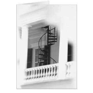 Outdoor Spiral Stairs Card