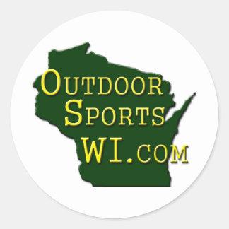 Outdoor Sports WI - Logo Round Stickers