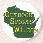 Outdoor Sports Wisconsin - Logo Coasters