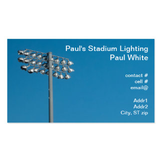 Outdoor Stadium Lighting Double-Sided Standard Business Cards (Pack Of 100)