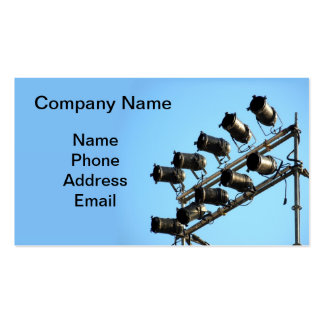 Outdoor Stage Lights and Spotlights Business Card Templates