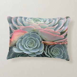 Outdoor Succulent Pillow, Blue Echeverias Decorative Pillow
