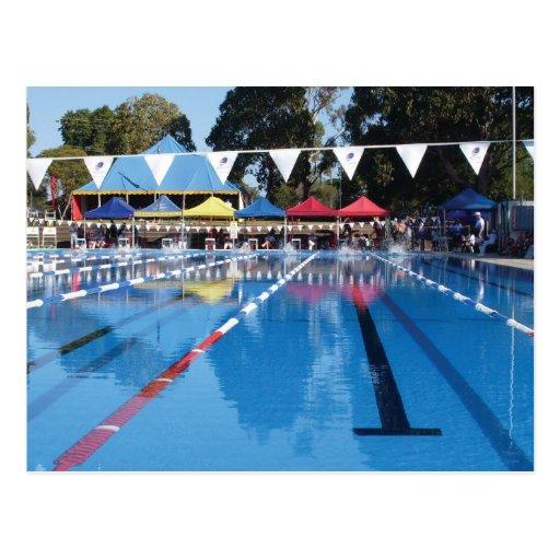 outdoor swimming pool postcard zazzle