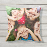 "Outdoor Throw Pillow<br><div class=""desc"">Outdoor throw pillow is shown in with a cute kids playing photo print.