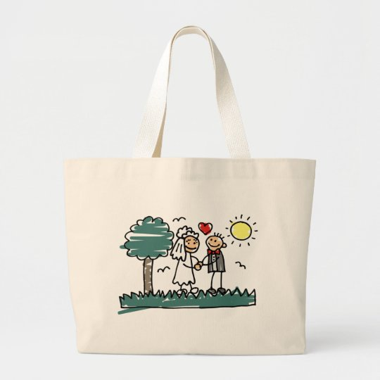 Outdoor Wedding Outside Nature Green Wedding Large Tote Bag