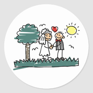 Outdoor Wedding Outside Nature Green Wedding Stickers