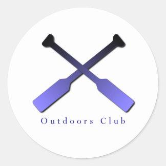 Outdoors Club Design Classic Round Sticker