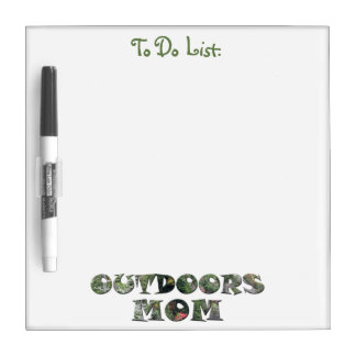 Outdoors Mom in real Camo Dry Erase Board