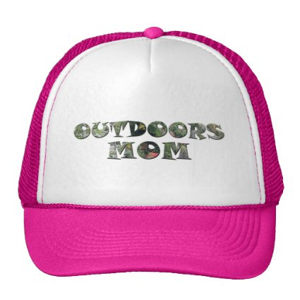 Outdoors Mom in real Camo Trucker Hats