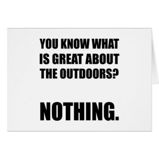 Outdoors Nothing Card