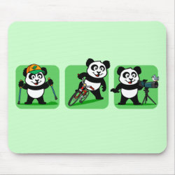 Mousepad with Outdoor Fun Panda design