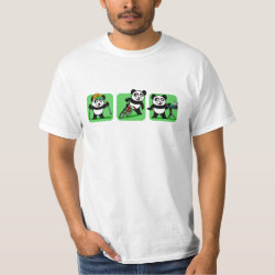 Men's Crew Value T-Shirt with Outdoor Fun Panda design