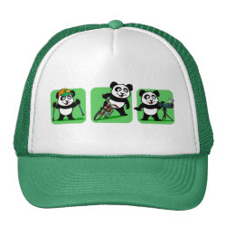 Outdoor Fun Panda Trucker Hat