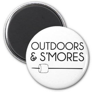 Outdoors & Smores Magnet
