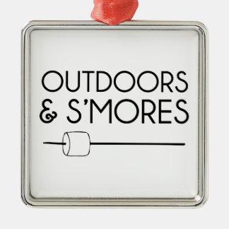 Outdoors & Smores Metal Ornament