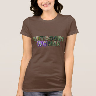 OUTDOORS WOMAN w/Purple Accent Tshirts