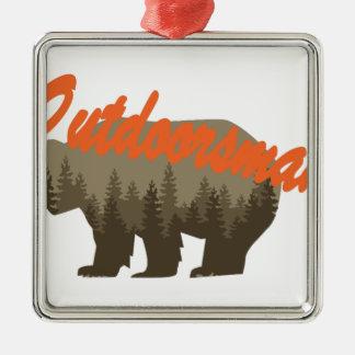 Outdoorsman Metal Ornament