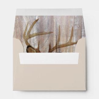 Outdoorsman Western Primitive barn wood deer Envelope