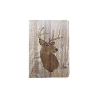 Outdoorsman Western Primitive barn wood deer Passport Holder