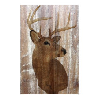 Outdoorsman Western Primitive barn wood deer Stationery